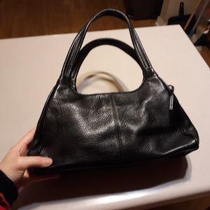 Black Leather Fossil Bag